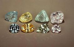 gemological institute of america | Rough and faceted fancy color diamonds. GIA (062413) | Diamonds