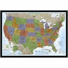 U.S. Political Map (Bright-colored)    National Geographic Store $12.95