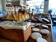 Brunch at Le Blé...bagels, pain au chocolat, cappuccinos as big as your head.