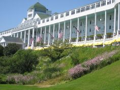 The Grand Hotel on Mackinac Island, Michigan. Had the most fantastic lunch there with hubby.