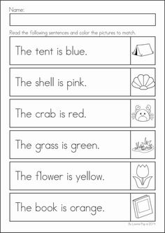 Reading Worksheets for Kindergarten Activities - Reading worksheets help children develop the early skills needed to become a good reader. Literacy Worksheets, Math Literacy, Reading Worksheets, Summer Worksheets, Kindergarten Reading, Teaching Reading, Kindergarten Activities, English Lessons, Teaching English