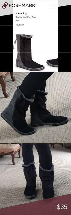 Nike Facile Mid calf Boot- like new & comfy! Size 9, excellent like new condition. Perfect for after workout errands or casual weekend wear!  Please see excellent product details in last pic. I have too many shoes so clearing closet! Nike Shoes Winter & Rain Boots