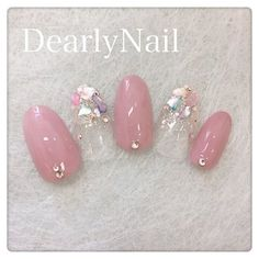 ネイル ネイル in 2019 Stylish Nails, Trendy Nails, Cute Nails, Korean Nail Art, Korean Nails, Japan Nail Art, Kawaii Nails, Japanese Nails, Gel Nail Designs