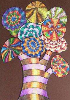 Op art strom – skupinová práce Op Art, Art For Kids, Art For Toddlers, Art Kids