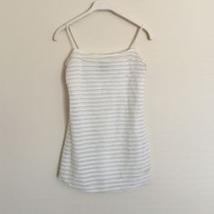 Free people white silver Ruffles tank cami XS Great condition. Super cute with adjustable straps. Fully lined. Bundle to save 25%! Free People Tops Camisoles
