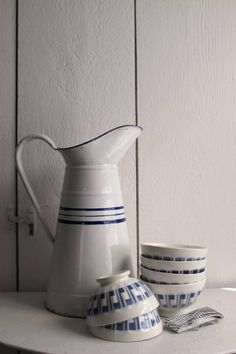French Enamel Milk pitcher