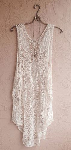 Crochet Maxi Beach bohemian gypsy coverup