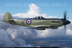 Photo taken at In Flight in New Zealand on December Ww2 Fighter Planes, Fighter Aircraft, Fighter Jets, Ww2 Aircraft, Aircraft Pictures, Military Jets, Military Aircraft, The Spitfires, Supermarine Spitfire
