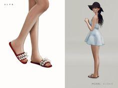 Miu Miu Pearl Slides for The Sims 4