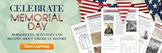 Worksheets, Activities, and Recipes about American history- perfect for Memorial Day