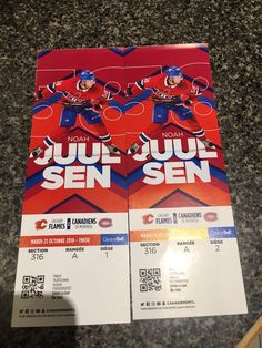 2ed20572ed9 Used 2 Habs VS Flames Hockey Tickets -Tomorrow Night for sale in Montréal