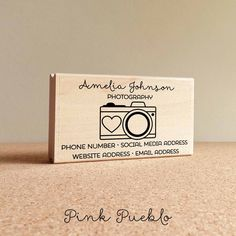 Pink Pueblo's Photography business card stamp is a great way to create your own business cards or label gifts, crafts and mail! The stamp art is original art by Devon (that's me!) at the studio of Pin                                                                                                                                                                                 More