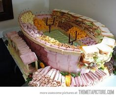 If I have a husband who is really, really into football I'll make this for him on Superbowl Sunday