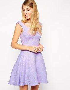 ASOS Textured Skater Dress in Lilac, $89 Retail Price ($26 On Sale) via ASOS.Com