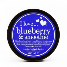 Beurre corporel Blueberry & Smoothie – 200 ml I Love Cosmetics Body Butter, Shea Butter, All About Eve, Good Times Roll, Coconut Oil, Blueberry, Raspberry, Smoothie, Cosmetics