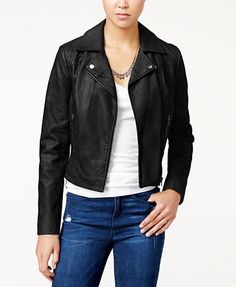 American Rag Faux-Leather Moto Jacket, Only at Macy's   macys.com