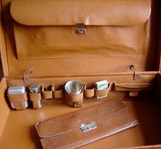 Vintage 1930s 1940s Leather Suitcase and by Retromagination