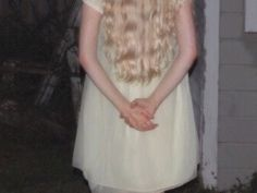Ophelia's ghost: he liked her in white. He thought girls like her should always wear white.