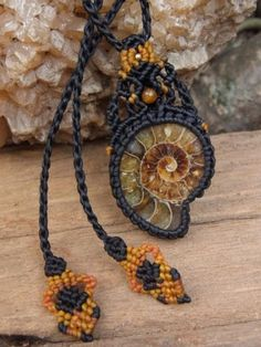 Thai_macrame necklace ammonite