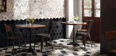 Add a new dimension to your interior designs with this showstopping range of multifaceted beauties. These complex, hexagonal tiles add character and offer a huge range of decorative possibilities. Terrazzo, Patchwork Tiles, Background Tile, Tile Showroom, Italian Tiles, Art Deco, Encaustic Tile, Hexagon Tiles, Loft