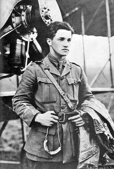 Albert Ball decorated British flying ace during World War I. Died at the age of 20 while pursuing the brother of the infamous Red Baron through a cloudbank.