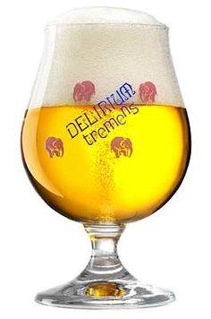 Delirium Tremens Snifter Glass with the famous Delirium Tremens Pink Elephants-sc