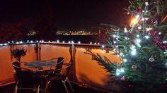 My balcony at Christmas.
