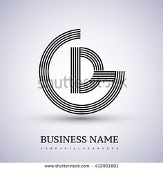 Letter GD or DG linked logo design circle G shape. Elegant black colored letter symbol. Vector logo design template elements for company identity. - stock vector