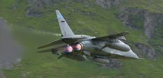 Aviation Photography at low-level of military jet fighters in the valleys of the United Kingdom Military Jets, Military Weapons, Military Aircraft, New Aircraft, Fighter Aircraft, Fighter Jets, Flying Photography, Close Air Support, Post War Era