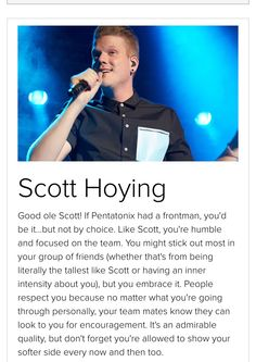 Which member of PTX are you I got Scott
