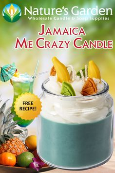Jamaica Me Crazy Candle Recipe by Natures Garden Candle Making Supplies is a free Joy Wax handmade candle recipe using Jamaica Me Crazy Fragrance Oil. Candle Making Supplies, Soap Making Supplies, Some Recipe, Recipe Using, Garden Candles, Glass Apothecary Jars, Homemade Candles, Mixed Fruit, How To Make Homemade
