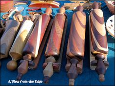 Beautiful hand-made wooden rolling pins