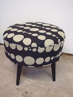 Knoll Fabric Ottoman/FootStool MidCentury  by ljindustries on Etsy