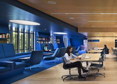 Collaborative Cobalt Workspaces : Princeton University Julian Street Library