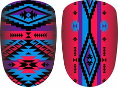 Bright Spring, Spring Colors, Western Nails, Country Nails, Aztec Nails, Purple And Black, Pink Purple, Clean Nails