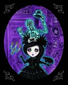 haunted mansion  Queenie pocket full of posies