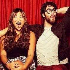 Jenna Ushkowitz & Darren Criss.