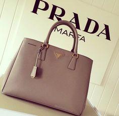 Prada... Love the structured pastles