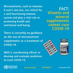 FACT: Vitamin and mineral supplements cannot cure #COVID19. WHO is coordinating efforts to develop and evaluate medicines to treat COVID-19. #KnowTheFacts International Health, Daily Vitamins, Tonic Water, Best Supplements, Health Advice, Natural Treatments, Vitamins And Minerals, Breast Cancer Awareness, Feel Better