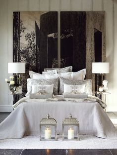 Elegant bedroom.... perfect for sweet dreams :) | found on www.trendenciaslifestyle.com