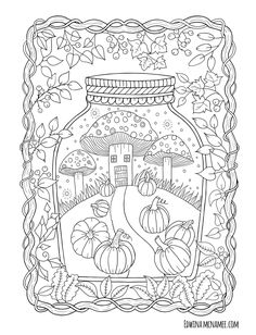 Autumn Magic Edwina Mc namee Scroll to bottom of page for free images is part of Fall coloring pages - Fall Coloring Sheets, Fall Coloring Pages, Halloween Coloring Pages, Adult Coloring Book Pages, Mandala Coloring Pages, Animal Coloring Pages, Printable Coloring Pages, Free Coloring, Coloring Books