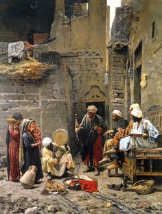 "Snake Tamer, The most expensive painting sold to a Serbian artist ""tamer of snakes"" from Paja Jovanovic, which was sold for euros. Realistic Paintings, Old Paintings, Carl Spitzweg, Jean Leon, Empire Ottoman, Arabian Art, Foto Transfer, Islamic Paintings, Old Egypt"