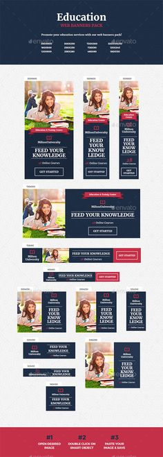 Education Banner Template PSD