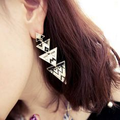 Min mixed order 10USD E239 fashion all-match fashion multi-layer triangle oil elegant big earrings 2012 Free shipping on AliExpress.com. $1.04