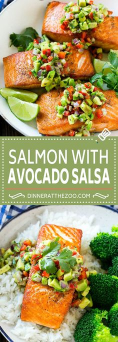 Low Unwanted Fat Cooking For Weightloss Salmon With Avocado Salsa Recipe Seared Salmon Recipe Healthy Salmon Recipe Seared Salmon Recipes, Healthy Salmon Recipes, Avocado Recipes, Healthy Dinner Recipes, Diet Recipes, Cooking Recipes, Avacado Salsa Recipe, Dinner Recipes With Avocado, Salmon Meals