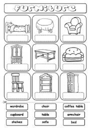 house furniture worksheets - Buscar con Google