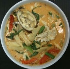 Red Curry Noodle Bowl by Thai Corner Noodles & Rice in Helotes, TX