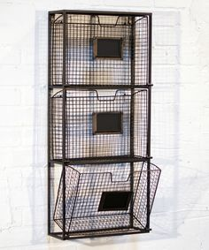 Look what I found on #zulily! Black Triple File Wall Basket by VIP International #zulilyfinds