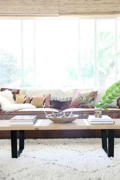 living room 2014-2 kelim cushions image: Dana Miller for House*Tweaking