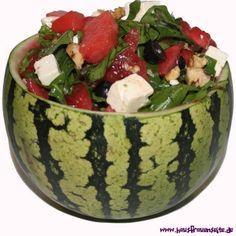 Wassermelonensalat mit Rucola und Feta